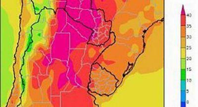 Pronostican fuertes calores y lluvias de dispar intensidad para el Conosur