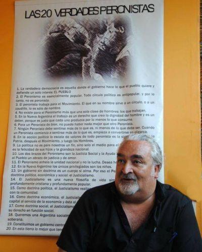 Juan Manuel Rapacioli, más militante que nunca, va por la presidencia del PJ marplatense