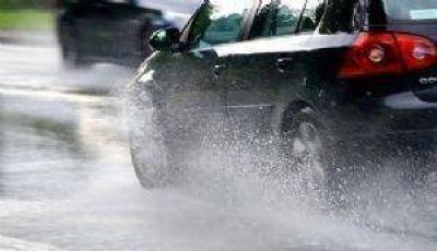 Las intensas precipitaciones inundaron las calles de Carlos Paz
