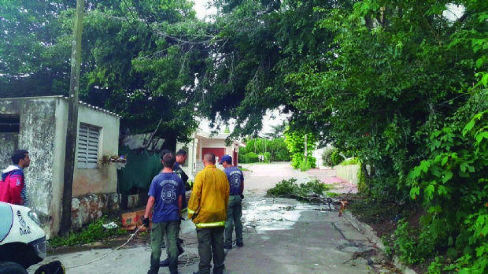 Tras el temporal, restablecen el servicio eléctrico en Punilla