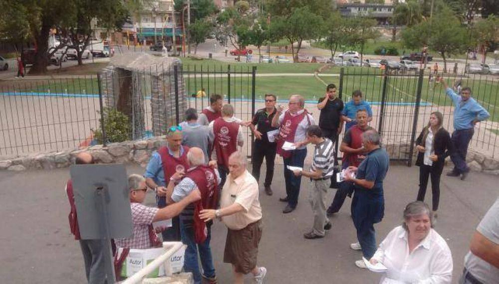 Otra protesta contra Schiaretti por la reforma jubilatoria