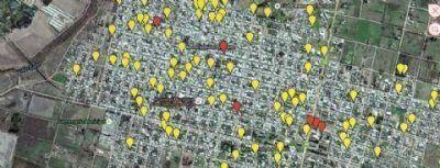 Plano de pérdidas de agua en la red general de la ciudad