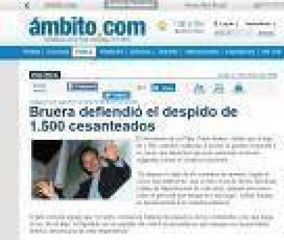 La Plata: Se recalienta el clima pol�tico y a Bruera le recuerdan que baj� 1500 contratos en 2007