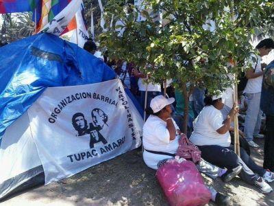Acampe en Plaza Belgrano: la Justicia intervino