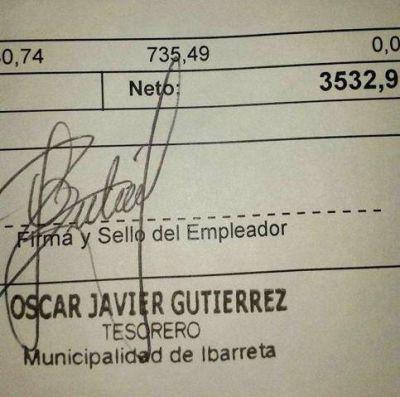 Ibarreta: Bronca de municipales tras cobrar sus bajos sueldos y con descuentos