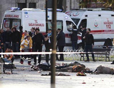 Turquía vuelve a sufrir por un atentado: 10 muertos en el corazón de Estambul