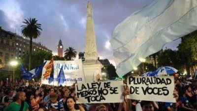 Marcha contra la censura a Victor Hugo Morales