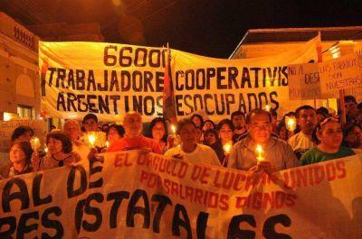 Organizaciones sociales decidieron permanecer en la plaza