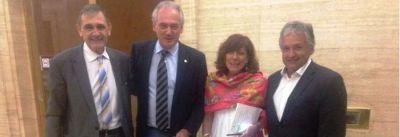 Bosetti se reunió con directivos del Banco Nación para apoyo a pymes y economías regionales