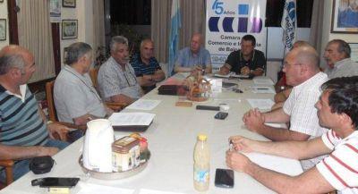 Luna se reunió con representantes de la Camara de Comercio