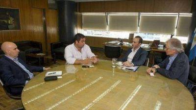 Caballero se reunió con los ministros nacionales de Producción y de Trabajo