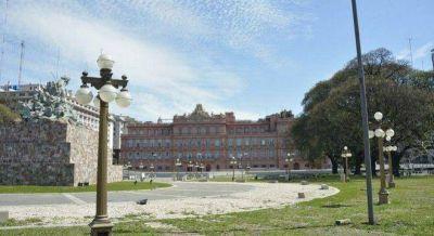 Macri orden� que abran las rejas de la Plaza Col�n