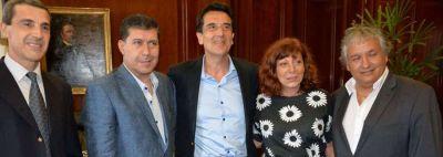 Sergio Casas se reunió con el presidente del banco Nación Carlos Melconián