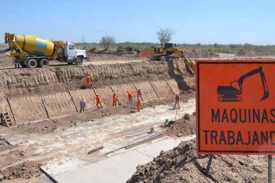 En marzo concluirá la obra del Desagüe Principal Sur para reducir los anegamientos en el sector