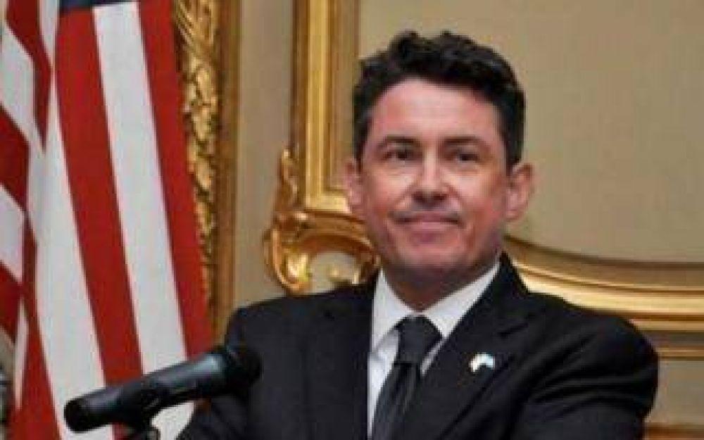 Abella recibe la visita del embajador de Estados Unidos en Campana