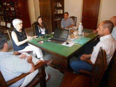 Funcionarios del municipio de Pellegrini se reunieron con la ministra de Salud