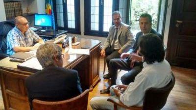 Reino se reunió con autoridades del banco Provincia