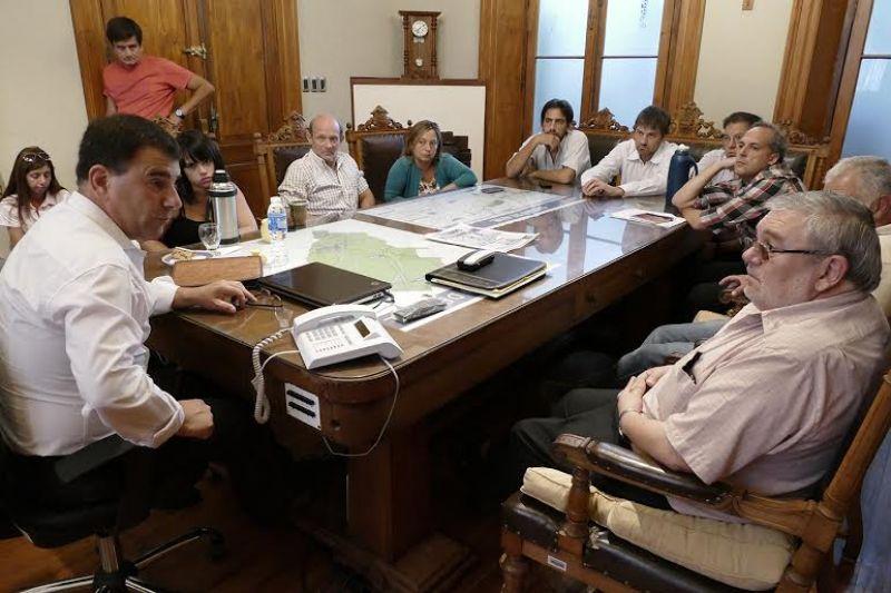 El Intendente se reunió con Hugo De Franchi y concejales