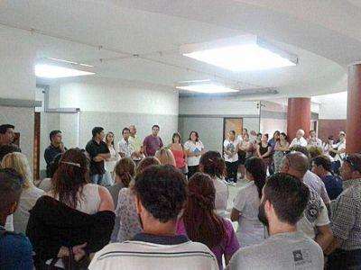En asamblea trabajadores del sanatorio Duarte hablaron sobre el estado del edificio