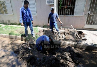 Pasaje de los Jubilados: ya con agua piden transporte y limpieza