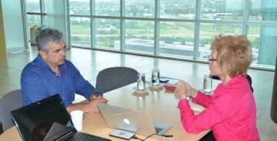 El vicegobernador Ponce se reunió con la ministra Bañuelos