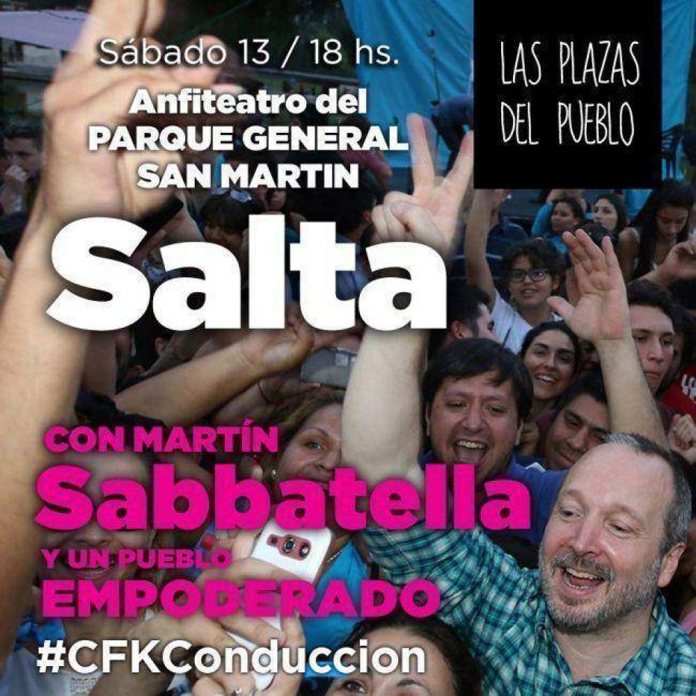"""Sabbatella trae a Salta su """"Plaza del Pueblo"""""""