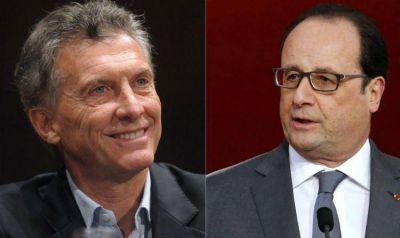 Hollande visitará a Macri el 24/2