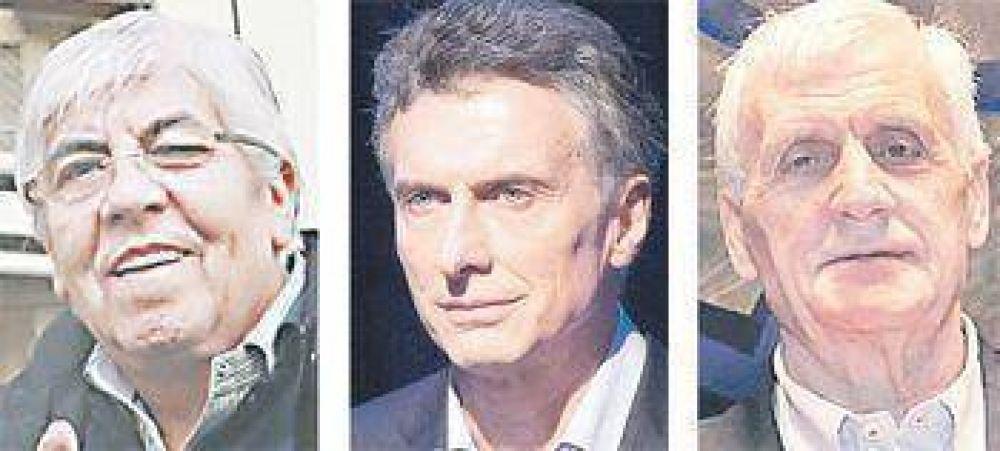 Jueves, la prueba de fuego de Macri con jefes de las tres CGT