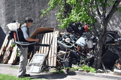 Dengue: hoy continúan las tareas de muestras y descacharrado