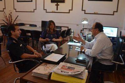 Salomón y Rodríguez dialogaron sobre seguridad con el Comisario Mayor Moussompes de la Departamental 25 de Mayo