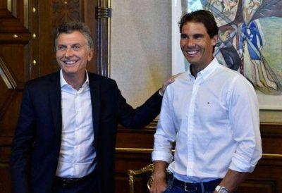 Nadal visitó a Mauricio Macri en la Casa Rosada
