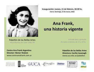 Se inaugura la muestra sobre Ana Frank en la UCA