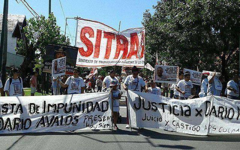 Marcha a Tribunales por el asesinato de Darío Ávalos