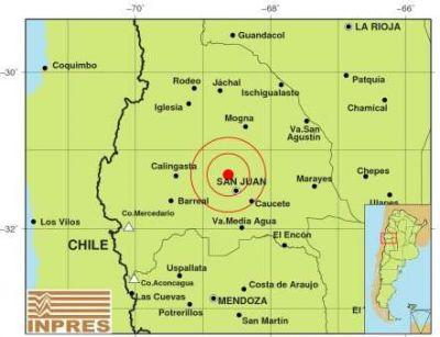 Temblor en San Juan se sintió en nuestra provincia