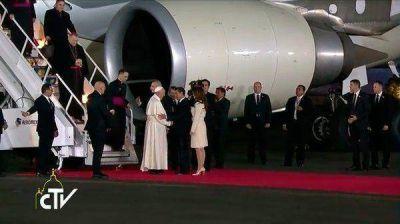 Papa Francisco llegó a México para su esperada visita