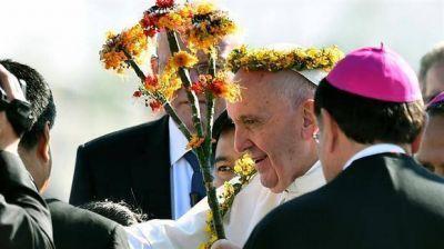 En Chiapas, el Papa reivindicó la cultura de los pueblos indígenas