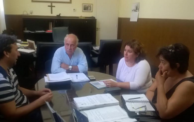 MAR CHIQUITA: EL INTENDENTE CARLOS RONDA RECIBIÓ A LA JEFA DISTRITAL DE EDUCACIÓN