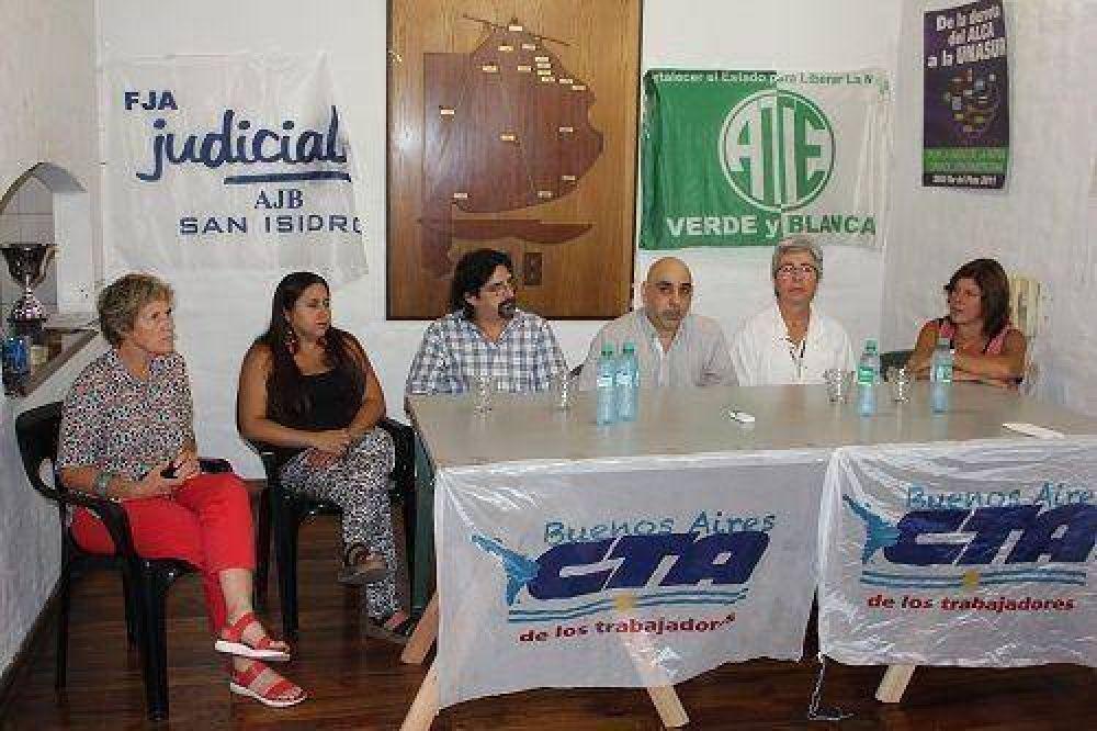 Jornada de lucha de ATE y mesa informativa de la situación de los gremios
