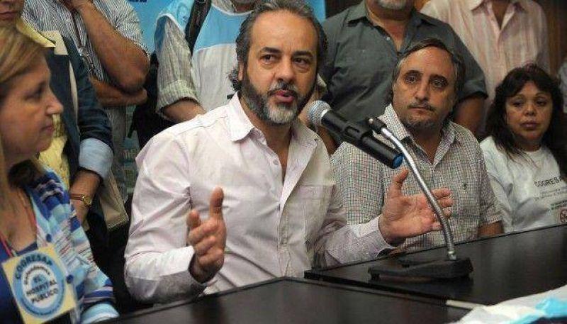 """Eduardo López: """"Queremos paritarias todo el año y un aumento de entre 35 y 40 por ciento"""""""