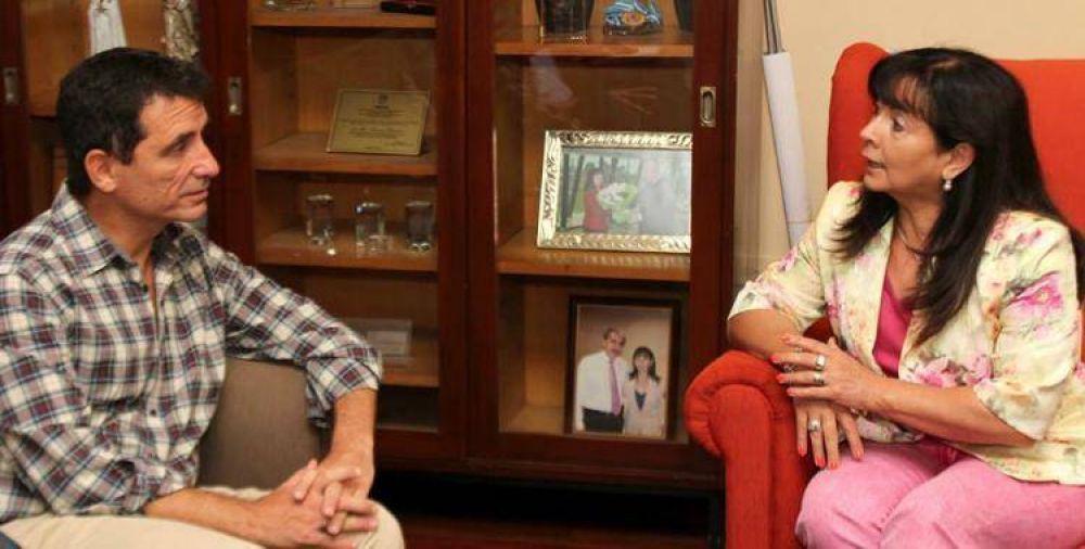 Gabriel Yedlin se reunió con Susana Trimarco para trabajar en conjunto