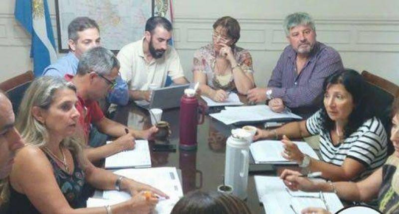 Amra y el gobierno en la reunión paritaria
