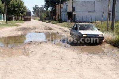 Las calles de tierra de Necochea y Quequén , un serio desafío para la administración municipal