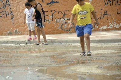 Otro derrame cloacal en el barrio Las Orqu�deas