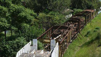 Obras donde hay chatarra ferroviaria