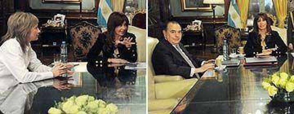 Cristina continuó el diálogo político con gobernadores de Tierra del Fuego y La Pampa