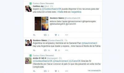 En medio de la tormenta, Sáenz apeló a Macri