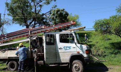 La EPE regularizó el servicio en varias zonas del Gran Santa Fe