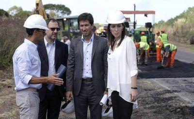 """Vidal supervisó obras en la ruta 88 y afirmó que son """"una prioridad"""""""