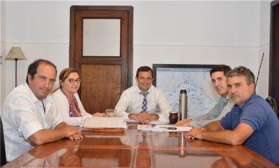 El intendente se reunió con distintas entidades