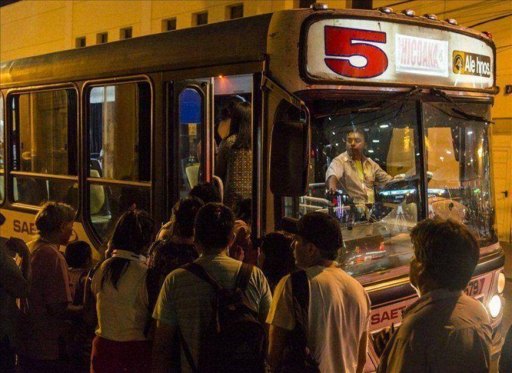 Choferes de Saeta amenazan con cortar el servicio nocturno